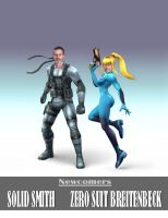 Solid Smith and Zero Suit by MangaFalzy