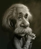 Albert Einstein Caricature Study by RodneyPike