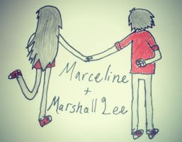 Marceline and Marshall Lee by SkillzFanFerLife98