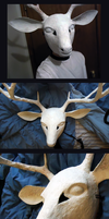 Deer mask by ScarecrowSpook