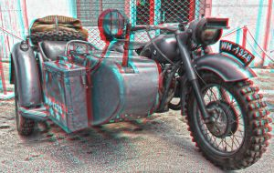 BMW post-WWII Sidecar 3D anaglyph by nadamas