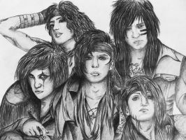Black Veil Brides Portrait by KatarinaAutumn