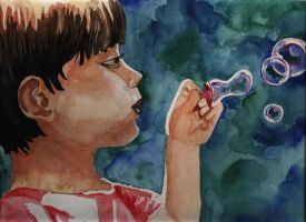 My brother loved bubbles by othersescape