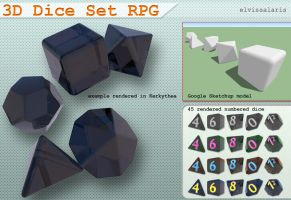 3D Dice Set RPG by elvissalaris