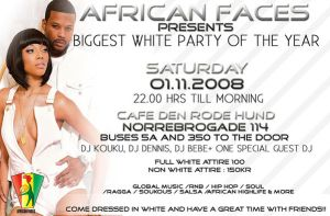 AFRICAN FACES ALL WHITE FLYER by truthdondie