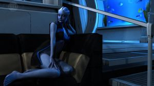 Liara Alternate Pinup by DarklordIIID