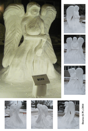 Nike Snow Sculpture