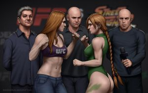 UFC vs Streetfighter: Rousey vs Cammy (weigh-in) by SamDelaTorre