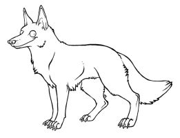Free canine lineart by NightmareHound