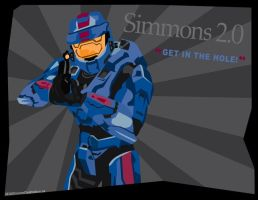 Simmons Blue Point Oh by DrummahJen