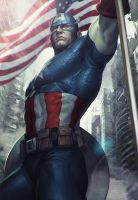 Captain America Statue Art by Artgerm