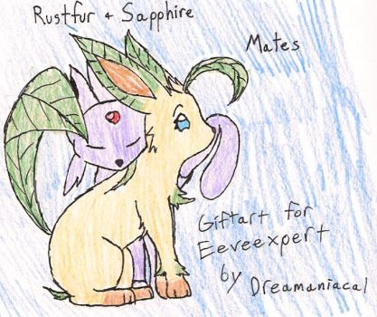 Rustfur and Sapphire: Mates by Dreamaniacal