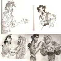 Miguel and Tulio sketches by MWaters