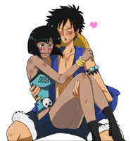 Suzuki and Luffy by Honeysan by Catt-Nightingale