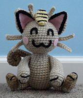 amigurumi meowth by TheArtisansNook