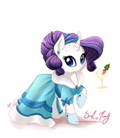 Merry Christmas from Rarity by StarshineBeast