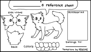 Reference Sheet Template by Nouchie