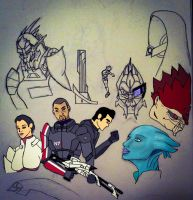WIP: Mass Effect Poster by ENTITY-JS