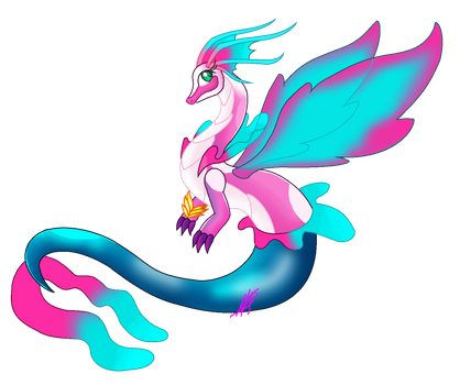 Mermaid Dragon by mlp004ninintv