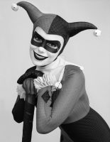 Harlequin Doll (BW) by AlyssaKing