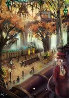 Autumn Trainstation by loxsiana