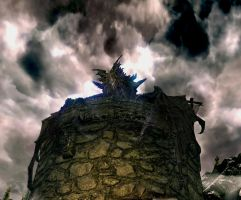 Skyrim Screenshots- Alduin 2 by vincent-is-mine