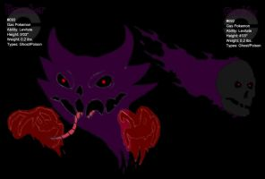 #092-Gastly and #093-Haunter by TheOneTrueSirCharles
