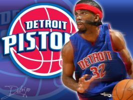 Detroit Pistons Wallpaper by rodrigovp