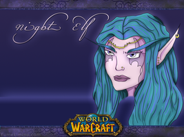 :: Night Elf - wallpaper :: by YumeKimino