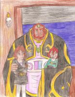 Mikalas, Fortuna and Ganondorf - For SZF by Luvisia