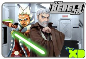 Ben Kenobi and Ahsoka Tano - Rebels Era Fan Art by Brian-Snook