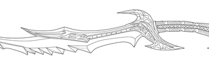 Daedric Sword lineart by andrewbig