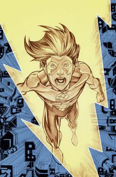 Kid Flash finished cover by manapul