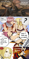 Fairy Tail Madagascar Natsu x Lucy king Julian by K6mil