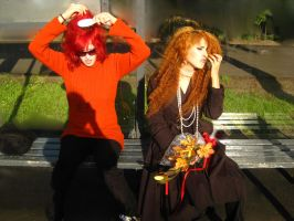 Yoshiki v Hide by foux86