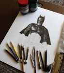 Dark Knight II- WIP 2 by joannewhiteart