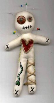 Little Muslin Voodoo Doll by jazzy1453