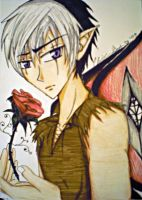 Anime Cats eye Faerie Prince by broken-with-roses