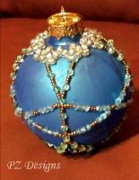 Christmas Ornament - Teal Crystal by PurlyZig