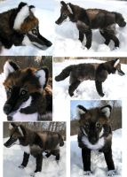Large Melanistic Snow Wolf by Jarahamee