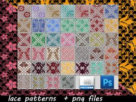 Lace Patterns and Png Files by roula33