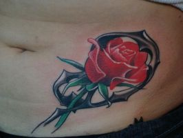 rose and ornament by scottytat2