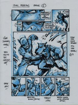 IDW TMNT One Page Six by Kevineastman