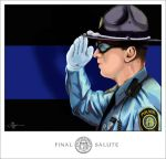 Final Salute - Blue Line by dubtastic