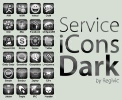 Service iCons Dark by Regivic