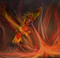 Lion phoenix by Pink-Death-Pigeon