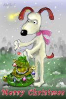 Gromit says  Merry Christmas by altergromit