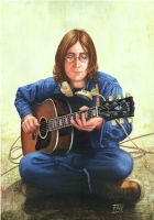 John Lennon - Acoustic Guitar by pictormano