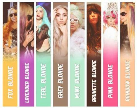 Lady Gaga's Different hair by niczec
