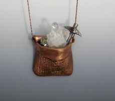 Bag of Holding Pendant by Peaceofshine
